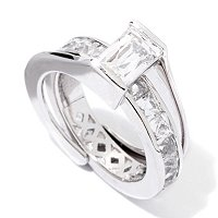 TYCOON SS/PLAT RECTANGULAR CUT AND REMOVABLE ETERNITY RING