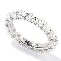 TYCOON SS/PLAT SQUARE CUT ETERNITY BAND
