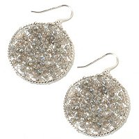SS ROUNDELL LABORITE STAR GAZER EARRINGS