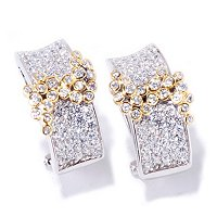 SB SS/CHOICE BEZEL SWIRL PAVE EARRINGS