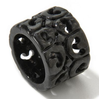 "118-821 - 16mm Hand Carved Jade Everlasting ""Harmony & Balance"" Ring"