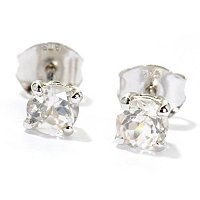 SS/P EAR 4.5MM ZIRCON STUDS