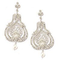 SS WRAP SNAKE TEAR DROP SHAPE MARCASITE EAR
