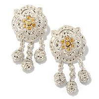SS ROSE BUD DROP MARCASITE EARRING