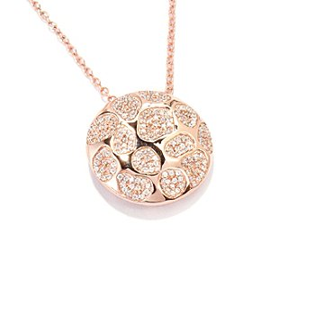 119-317 - Sonia Bitton for Brilliante® 1.99 DEW Scattered Pave Disk Pendant w/ 18'' Chain