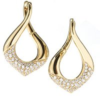 SB SS/CHOICE MARQUISE SHAPE TWISTED DROP EARRINGS