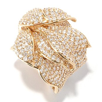 119-364 - Sonia Bitton for Brilliante® 6.08 DEW Layered Pave Petals Ring