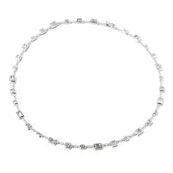 119-379 - TYCOON for Brilliante® Platinum Embraced™ Rectangular & Square Link Necklace