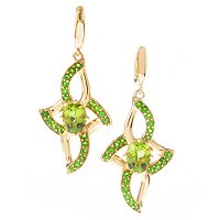 SS/P EAR PERIDOT & CHROME DIOPSIDE