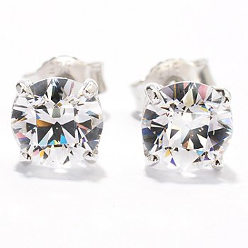 119-880 - TYCOON Platinum Embraced™ Tycoon Cut Simulated Diamond Stud Earrings