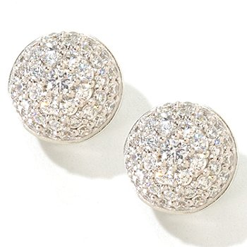 119-926 - Sonia Bitton for Brilliante® 3.68 DEW Pave Button Stud Earrings
