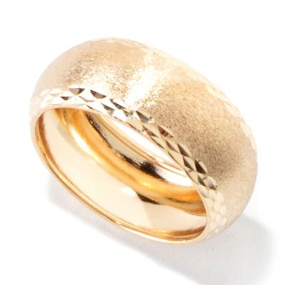 119-967 - Viale18K® Italian Gold Carved & Diamond Cut Band Ring
