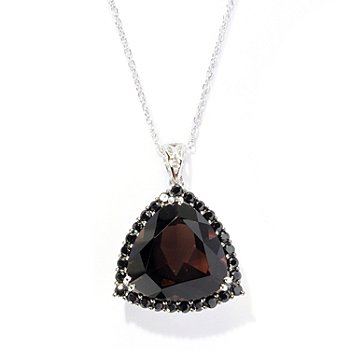 119-999 - NYC II Quartz Trillion & Black Spinel Pendant w/ Chain