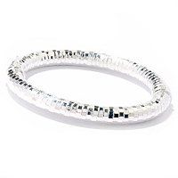 SEMPRESILVER[TM] SS TWISTED D/C BANGLE BRACELET