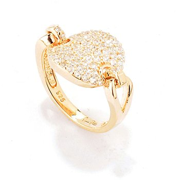 120-218 - Sonia Bitton for Brilliante® Pave Disk Link Ring