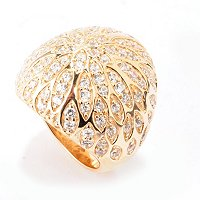 SB SS/CHOICE FLOWER BOLD DOME RING