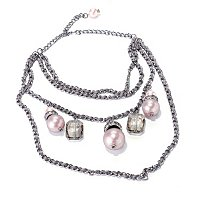 "THE FIND BY ANNIE G. ""MARILYN NECKLACE"" GLASS PEARL & CRYSTAL NECKLACE"