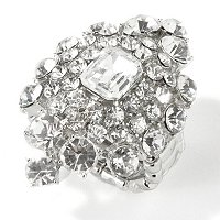 "THE FIND BY ANNIE G. ""MADAME MARQUISE"" CRYSTAL ADJUSTABLE RING"