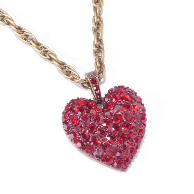 "120-253 - Sweet Romance™ 21"" Pave Crystal Heart Necklace"
