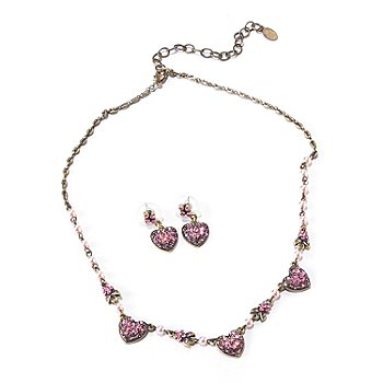 120-256 - Sweet Romance™ ''Queen of Hearts'' Necklace & Earrings Set