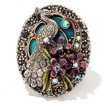 120-261 - Sweet Romance™ Two-tone Crystal Peacock Ring