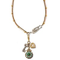 SILVERTONE / GOLDTONE SMALL TREASURES NECKLACE