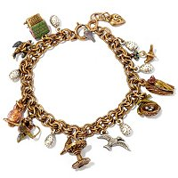 "GOLDTONE 7"" LITTLE BIRDS BRACELET"