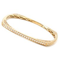SB SS/CHOICE SQUARE SLIP ON BANGLE BRACELET