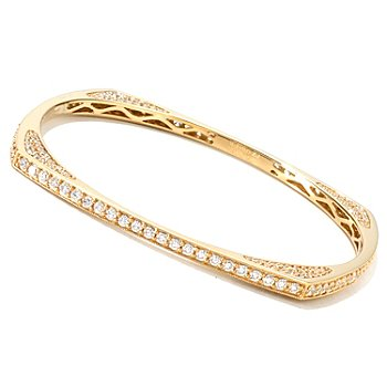 120-325 - Sonia Bitton for Brilliante® 6.64 DEW Geometric Slip-On Bangle Bracelet