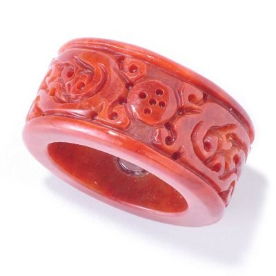 120-370 - Dyed Jade Carved Dragon Ring
