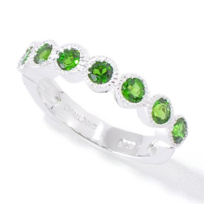 120-376 - Gem Insider Sterling Silver Multi Shaped Gemstone Stack Ring
