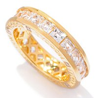 TYCOON SS/CHOICE CHANNEL SET SQUARE TYCOON ETERNITY BAND RING