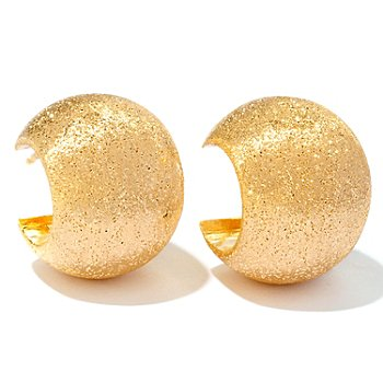 120-494 - Portofino Gold Embraced™ Shimmering Satin Huggie Hoop Earrings