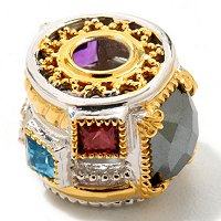 "SS/PALL/18KGP CHARM MULTI-GEMSTONE ""MANHATTAN"""