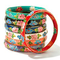 SET OF 7 CLOISONNE BANGLES