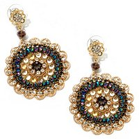 "GOLDTONE CRYSTAL ""AUBREY"" EARRINGS"