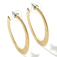 "GOLDTONE ""TAYLOR"" HOOP EARRINGS"