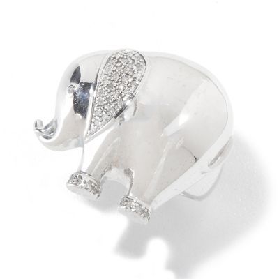 120-641 - NYC II 0.10ctw Diamond Polished Elephant Ring