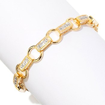 120-689 - TYCOON for Brilliante® Channel Set Rope Border Link Bracelet