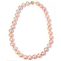 "14K YG 18"" 12-13MM ROUND NATURAL COLOR FWP NECKLACE"