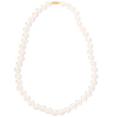 "120-753 - 14K Gold 18"" 9-10mm Round Freshwater Cultured Pearl Necklace"