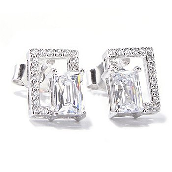 120-801 - TYCOON for Brilliante® Platinum Embraced™ 1.48 DEW Geometric Stud Earrings