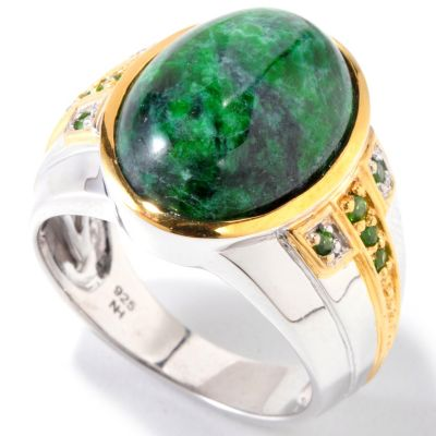 120-826 - Men's en Vogue II 18 x 13mm Maw Sit Sit & Chrome Diopside Ring