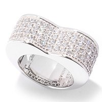 SB SS/CHOICE PAVE HEART SHAPE RING