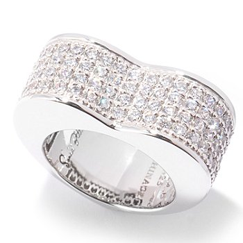 120-834 - Sonia Bitton for Brilliante® 1.68 DEW Pave Heart-Shaped Ring