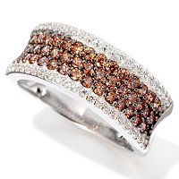 BLTA TTV SS/PLAT CHOICE SIMULATED DIAMOND FANCY COLOR PAVE RING