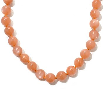 120-939 - Dallas Prince Designs 18'' Peach Moonstone Necklace w/ Toggle Clasp