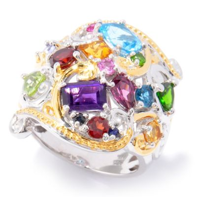 120-961 - Gems en Vogue II 3.92ctw Multi Gemstone Ring