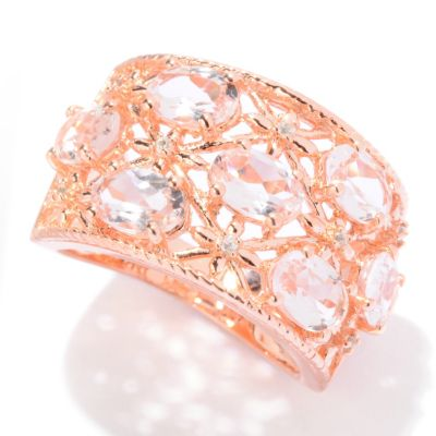 121-126 - NYC II 2.81ctw Morganite & White Zircon Ring