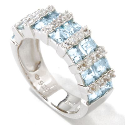 121-134 - NYC II 2.58ctw Aquamarine & White Zircon Band Ring